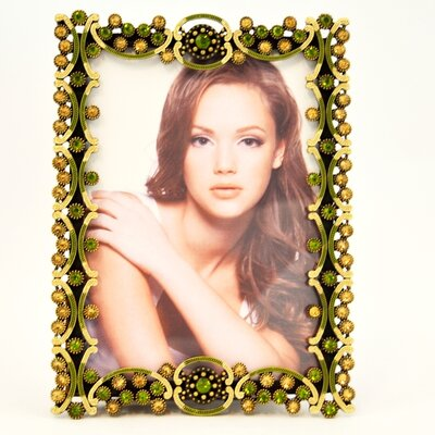 Vintage Topaz Carving Picture Frame Color: Green