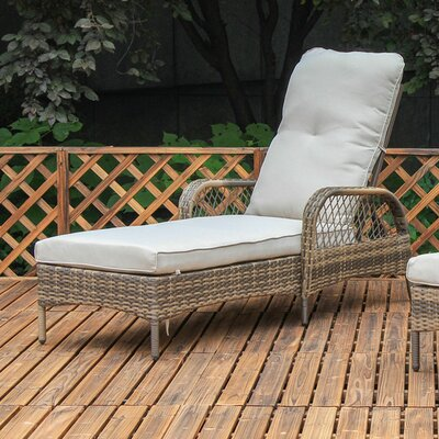 Aldusa Chaise Lounge with White Cushion