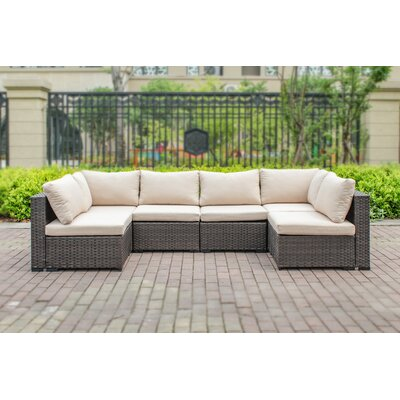 Alycia 6 Piece Sectional Seating Group with Cushion
