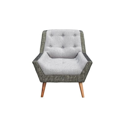 Highgate Mid Century Modern Living Room Arm Chair Upholstery: Gray