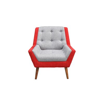 Highgate Mid Century Modern Living Room Arm Chair Upholstery: Red