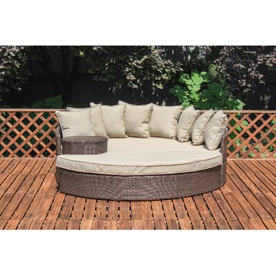 Stinchcomb Outdoor Wicker Daybed with Cushions