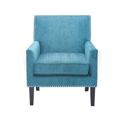 Gagarin Track Arm Club Chair Upholstery: Peacock