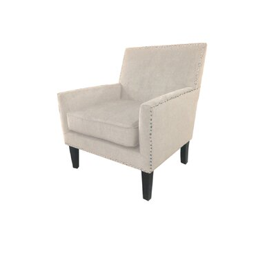 Gagarin Track Arm Club Chair Upholstery: Beige