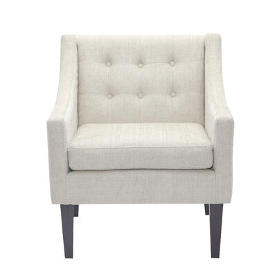 Aileen Mid Century Tailored Tufted Accent Armchair Upholstery: Beige