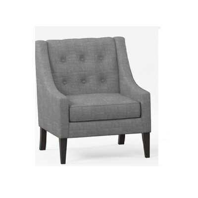 Aileen Mid Century Tailored Tufted Accent Armchair Upholstery: Gray