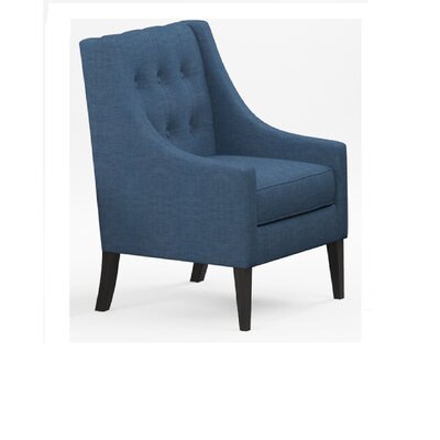 Aileen Mid Century Tailored Tufted Accent Armchair Upholstery: Navy Blue