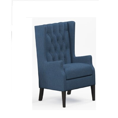 Argenta Button Tufted Wingback Chair Upholstery: Blue