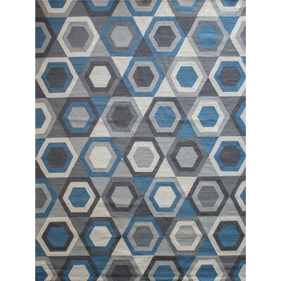 Zubair Reversible Gray Outdoor Area Rug Rug Size: 9 x 12