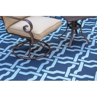 Fairwood Reversible Blue Outdoor Area Rug Rug Size: 9 x 12
