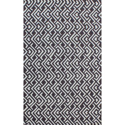 Zubair Reversible Black/White Outdoor Area Rug Rug Size: 5 x 8