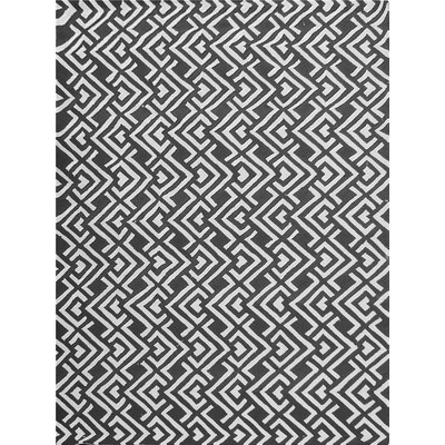 Zubair Reversible Black/White Outdoor Area Rug Rug Size: 9 x 12