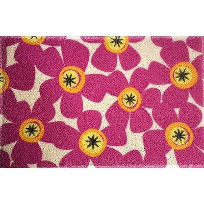 Amici Fuchsia Flowers Doormat