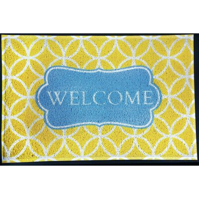 Bloomfield Hills Welcome Doormat Color: Lime/Blue