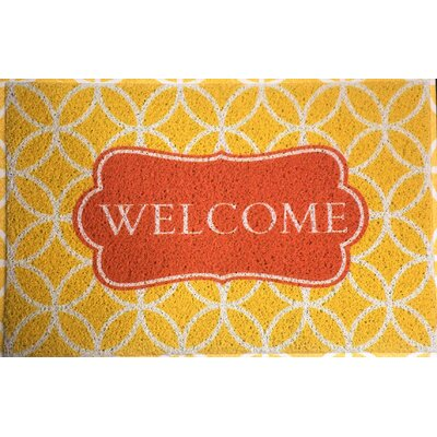 Bloomfield Hills Welcome Doormat Color: Orange/Red