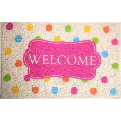 Amira Polka Dots Welcome Doormat
