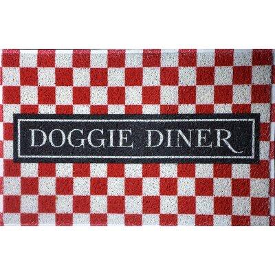 Ammon Check Doggie Diner Doormat
