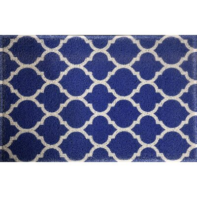 Blueridge Quatrefoil Doormat Color: Sky Blue