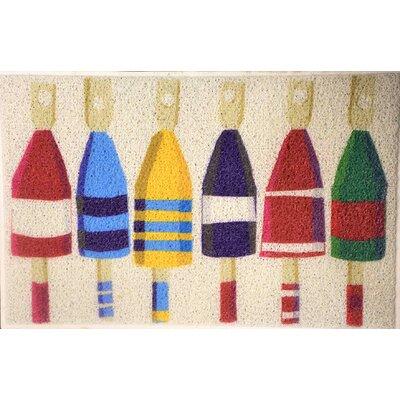 Romona Buoys Doormat Color: Ivory