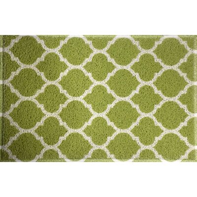 Blueridge Quatrefoil Doormat Color: Kiwi