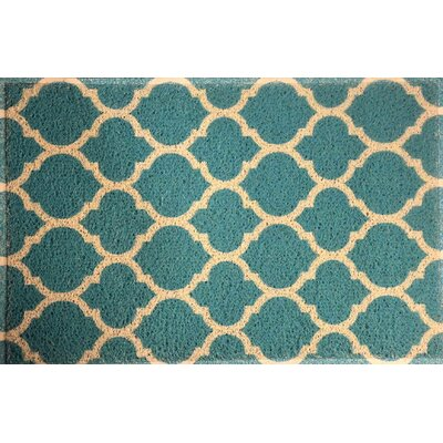 Blueridge Quatrefoil Doormat Color: Aqua