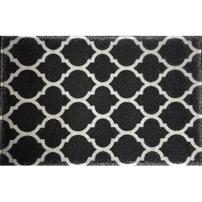 Blueridge Quatrefoil Doormat Color: Black
