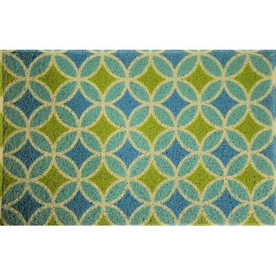Anderton Geometry Doormat Color: Seaweed/Aqua