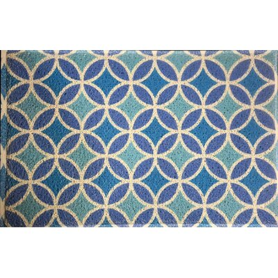 Anderton Geometry Doormat Color: Aqua/Sky Blue