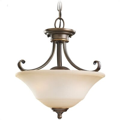 Parkview 2 Light Convertible Inverted Pendant Finish: Russet Bronze