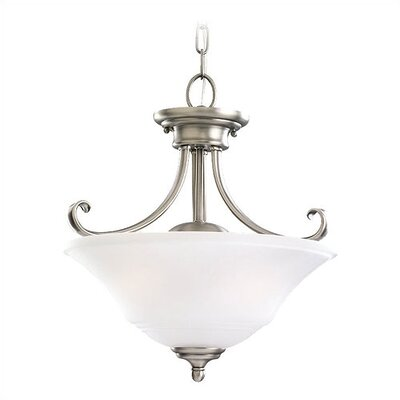 Parkview 2 Light Convertible Inverted Pendant Finish: Antique Brushed Nickel