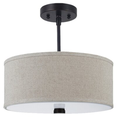Magaret 2-Light Semi-Flush Mount Finish: Burnt Sienna, Bulb Type: Incandescent A19 100W