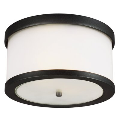 McIntosh 2-Light Flush Mount Finish: Black, Bulb Type: 75W A19 Medium