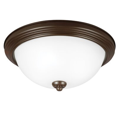 Bement 1-Light Flush Mount Finish: Burnt Sienna