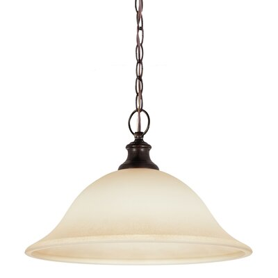 Jacobus 1-Light Inverted Pendant Bulb Type: 60W A19 Medium