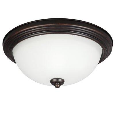 Bement 1-Light Ceiling Flush Mount Size: 6.5 H x 15.25 W x 15.25 D