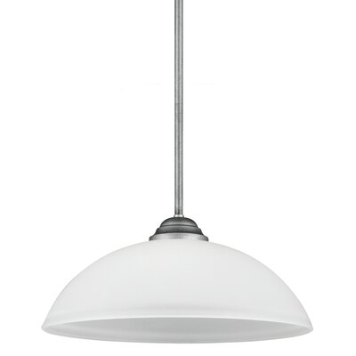 Nob Hill 1-Light Inverted Pendant Finish: Weathered Pewter, Bulb Type: 100W A19 Medium