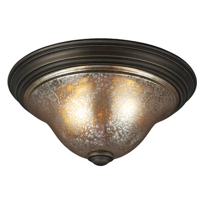 Blayne 2-Light Flush Mount Bulb Type: 60W A19 Medium