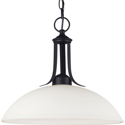 Uptown 1-Light Bowl Pendant Bulb Type: 100W A19 Medium