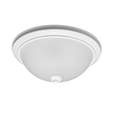 Bement 1-Light Flush Mount Finish: White