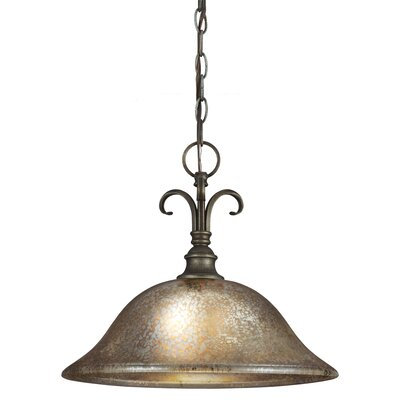 Rathburn 1-Light Inverted Pendant Bulb Type: 100W A19 Medium