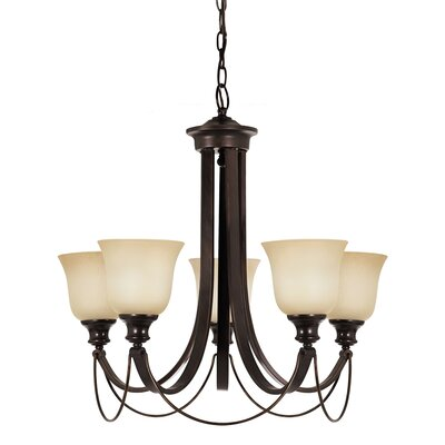 Jacobus 5-Light Shaded Chandelier Bulb Type: 60W A19 Medium