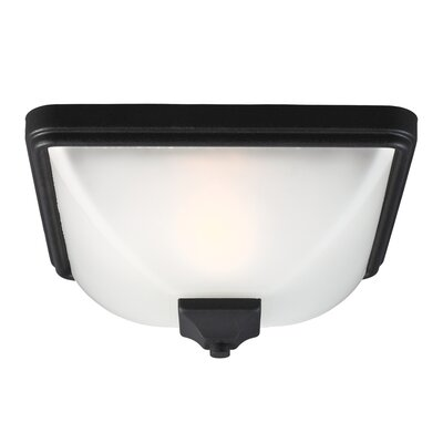 Buckmaster 1-Light Flush Mount Finish: Black, Bulb Type: 60W A19 Medium