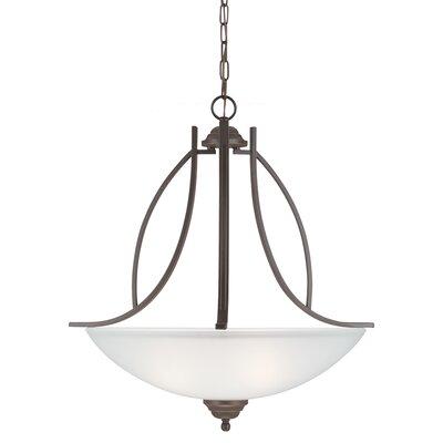 Nob Hill 3-Light Bowl Pendant Bulb Type: 100W A19 Medium, Finish: Autumn Bronze