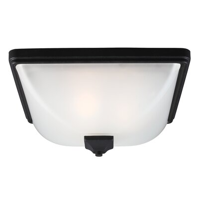 Buckmaster 3-Light Flush Mount Finish: Black, Bulb Type: 60W A19 Medium
