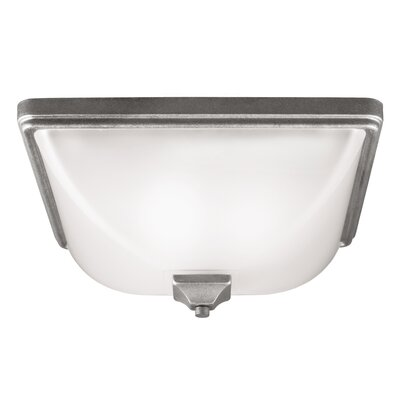Buckmaster 3-Light Flush Mount Bulb Type: 60W A19 Medium, Finish: Weathered Pewter