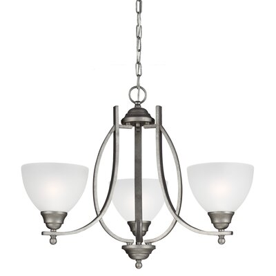 Vitelli 3-Light Mini Chandelier Finish: Weathered Pewter, Bulb Type: 13W Self Ballasted GU24 CFL