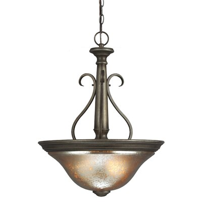 Blayne 3-Light Bowl Pendant Bulb Type: 60W A19 Medium