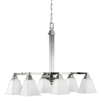 Denhelm 6-Light Kitchen Island Pendant Finish: Brushed Nickel, Bulb Type: 13W Self Ballasted GU24 CFL