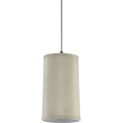 Jaymes 1-Light Mini Pendant Shade Color: Oyster Silk Dupion