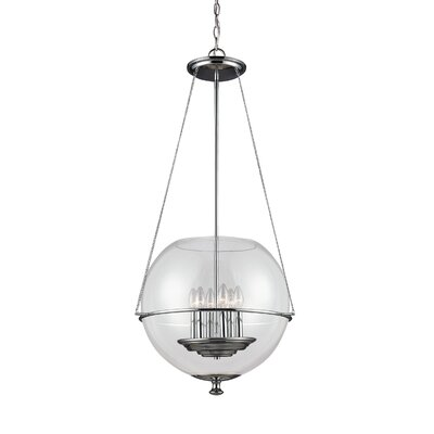 Nunda Modern 6-Light Globe Pendant Finish: Chrome
